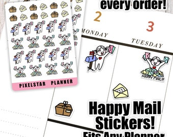 Happy Mail Package Planner Stickers