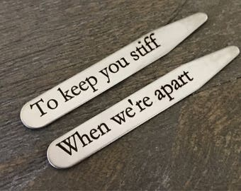 Collar Stays | Personalized Gift | Fathers Day Gift | Anniversary Gifts | Wedding | Graduation Gift | Groomsmen Gift | Gifts For Men