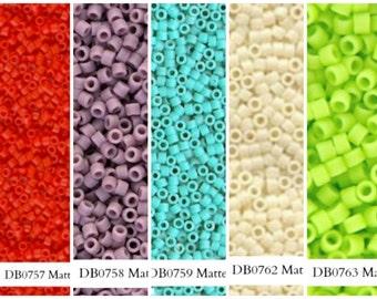 Miyuki Delica Seed Beads, DB757, DB758, DB759, DB762, DB763 Size 11/0 (5gr), DB0757, DB0758, DB0759, DB0762, DB0763