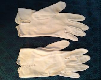 Vintage 1960's Wedding Gloves