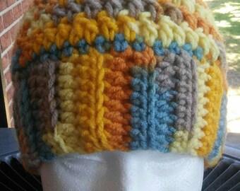 Messy Bun Beanie, Crochet Beanie, Ponytail Beanie, Ponytail Hat, Messy Bun Hat, Cold Weather Beanie, Gift for Her, Adult Beanie