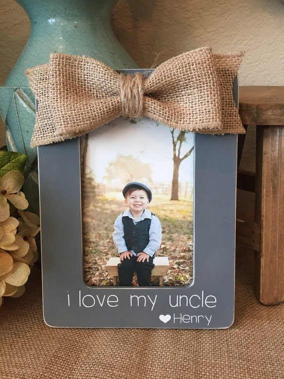 Uncle personalized picture frame gift for uncle from niece nephew uncle personalized picture frame gift for uncle from niece nephew new baby custom handmade gift for uncle from boutiquebutterlu on etsy studio negle Gallery