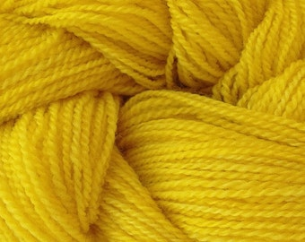 Merino Wool Yarn Lace Weight in Flower Yellow Hand Painted