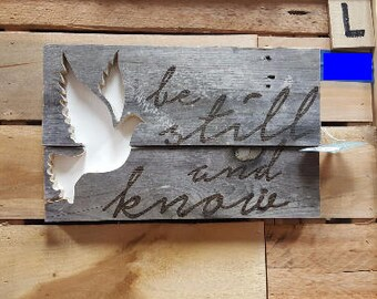 Be Still and Know Pallet Art