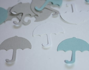 200 pieces Baby Umbrella Die Cut Confetti Table Decor - Blue