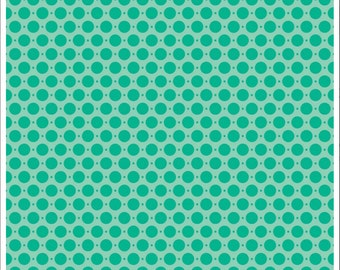 Sweet Nothings Dots Teal Duck Canvas by Riley Blake
