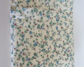 1.5 yards Light Yellow Background Floral Cotton quilting Fabric