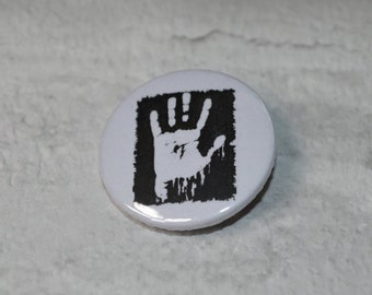 Hand print button badge 25mm