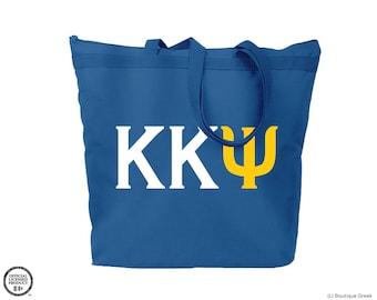 KKY Kappa Kappa Psi Letters Blue Tote