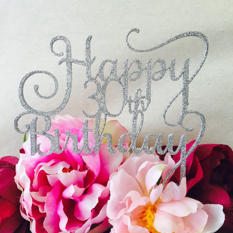 Happy 30th birthday cake topper cake toppers cake decoration zoom izmirmasajfo