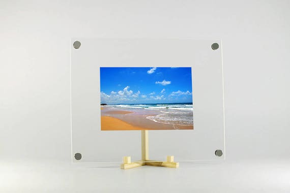Acrylic photo frame kit magnets 8x10 inch with chic Hinoki