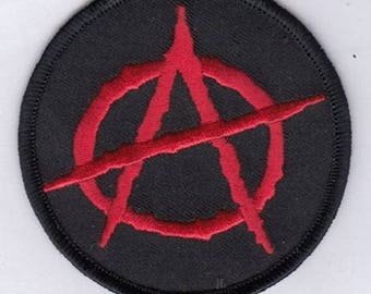 """ANARCHY EMBROIDERED IRoN-ON PaTCH 3"""" inches"""