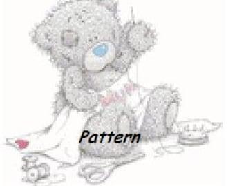 Teddy bear #10. Cross Stitch Pattern. PDF Files.