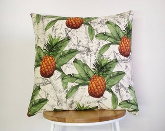 Tropical Pineapple print cushion cover