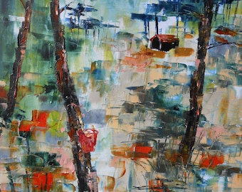 Painting forest in Landes