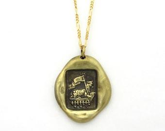 Agnus Dei sealing stamp medal pendant brass