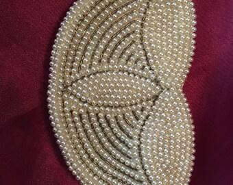 Vintage pearl clutch