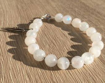 Adjustable bracelet, semi-precious Gemstones, Silver 925 and metal