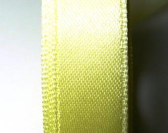 13 mm by the yard yellow satin ribbon clear 1.33 b.