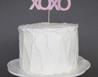 XOXO Valentines Day Cake Topper