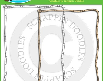 Full Page Rope Border with Line Art