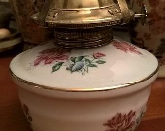 Vintage porcelain oil lamp