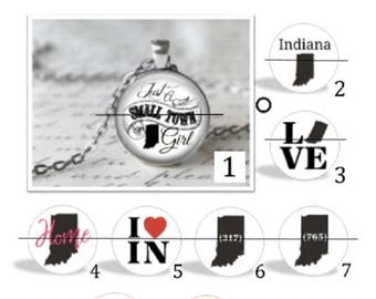 O' SNAP!!  My Indiana Home Switchable Charm Necklace or keychain