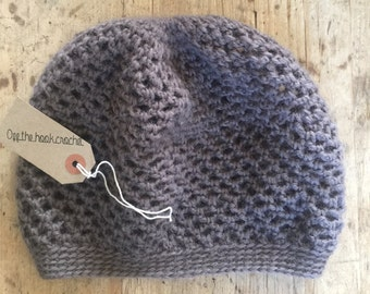 Taupe Crocheted Beanie