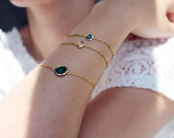 Armband mit Glasstein-Verbinder