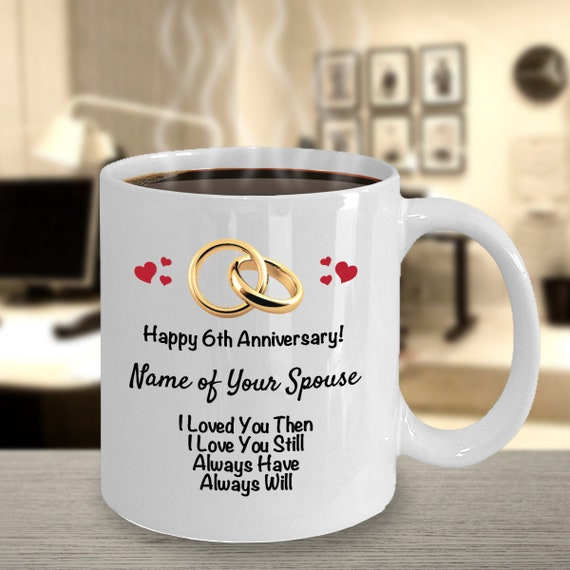 Personalized 6th Anniversary Gift Ideas Wife Husband