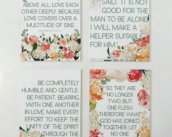 Bridal Scripture Card Set