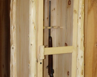Rustic Log Gun Cabinet Solid Pine & Cedar