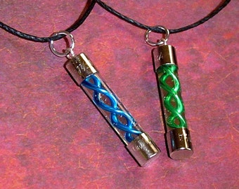 Resident Evil - T-Virus and Anit-Virus Friendship Necklace Set