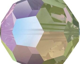 Swarovski Crystal Round Beads 5000 - 3mm 4mm 6mm 8mm - Crystal Paradise Shine AB