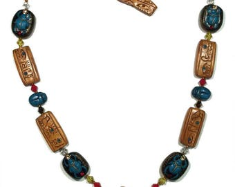 Egyptian Polymer Necklace