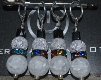 Beaded Ring Stitch Markers - Themes