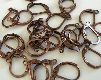 50pcs-Antique Copper Leverback Earring Hooks.