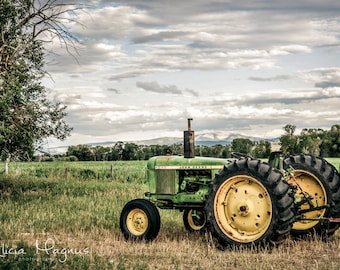Country Wall Decor - TRACTOR CANVAS PRINT - John Deere
