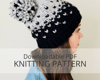 SLEET colourwork toque [downloadable PDF knitting pattern] colourwork