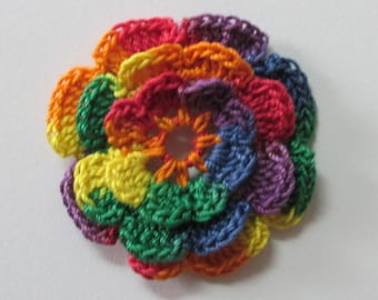 "RUFFLED Spool Pin Doily (2.0"") - Multi FIESTA (Red/Orange/Yellow/Green/Blue/Purple)"