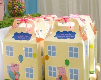 Peppa Pig House Favor Box *Read Description Before Ordering*