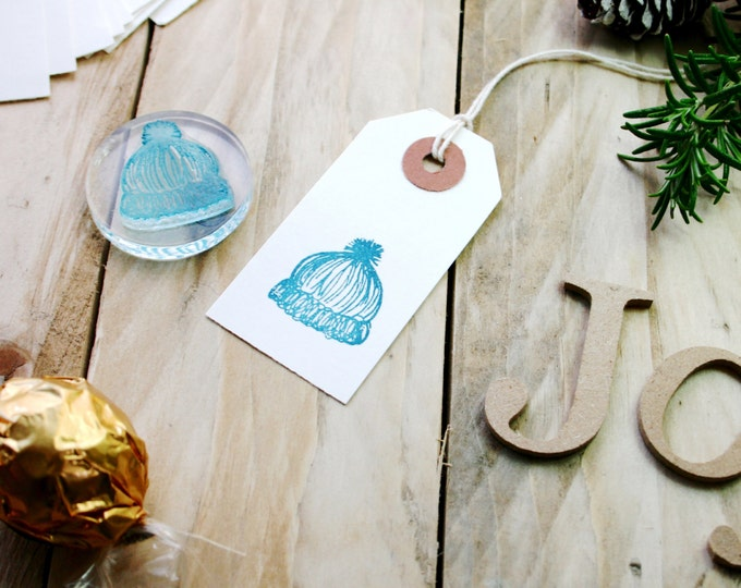Bobble Hat Stamp – Woolly Hat Stamp – Hat Rubber Stamp – Hat Scrapbooking Stamp – Wooly Hat Stamp – Hat Photopolymer Stamp - Stamp Store