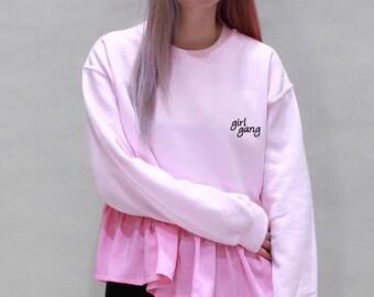 Girl Gang Ruffle Sweater