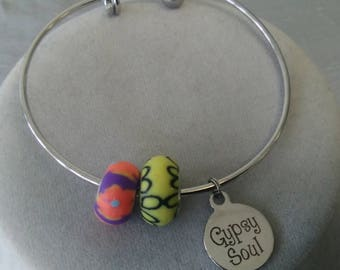 Gypsy Soul Steel Bangle Bracelet