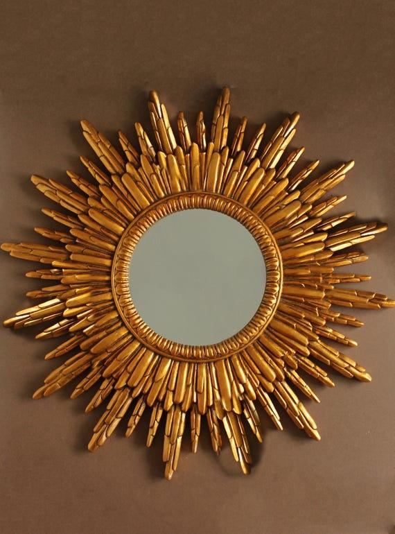 Sunburst Mirror Hollywood Regency Mirror Sunflower Mirror