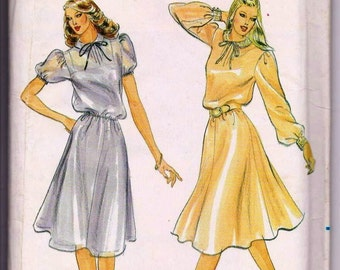 """Butterick 3550, Vintage, THEATRE, Sewing Pattern, Dress, 1980s, Bust 34"""""""
