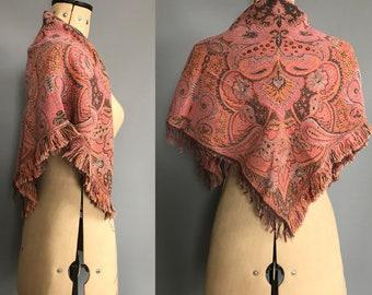 Late edwardian paisley shawl
