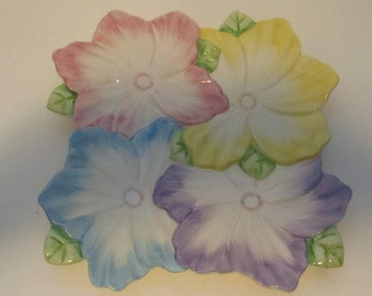 Floral colored platter 1992