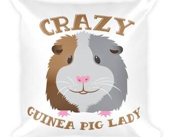 Crazy Guinea pig lady Square Pillow