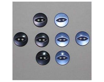 40 x buttons basic 14 mm 2 holes set E - 000803